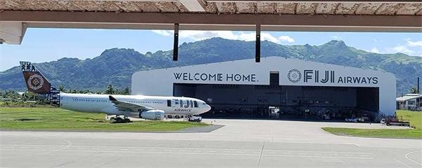 Varm ambiance ombord Fiji Airways
