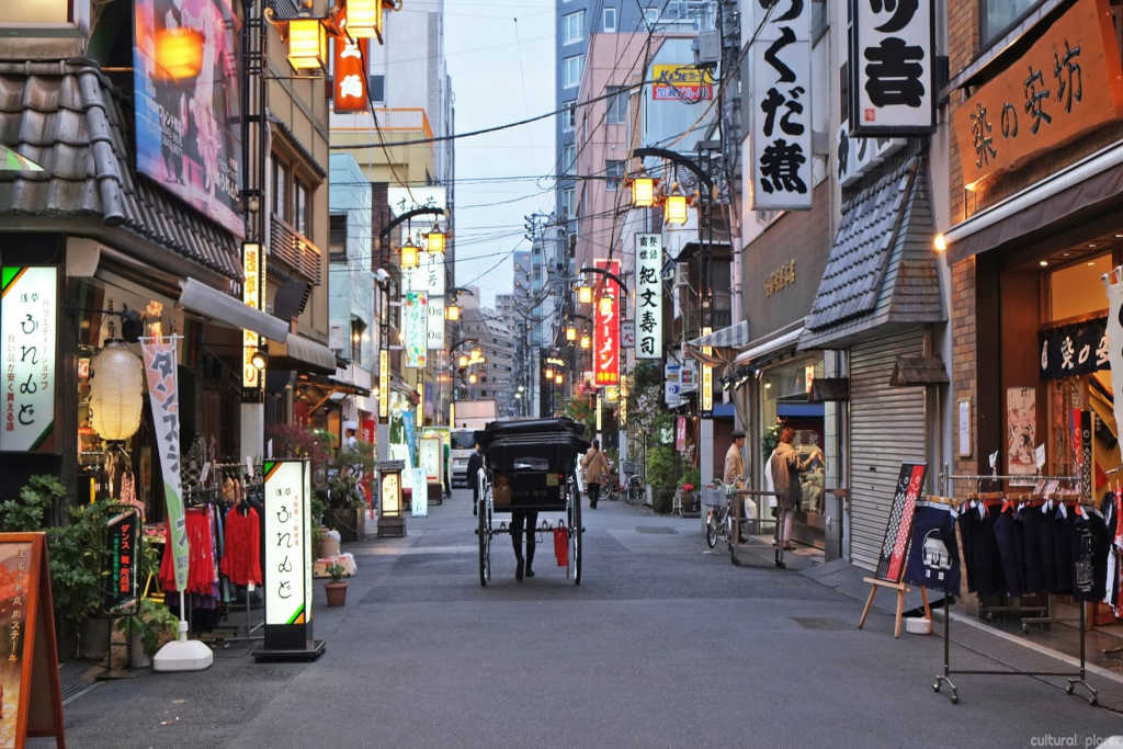 Stadsdelen Asakusa i Tokyo.