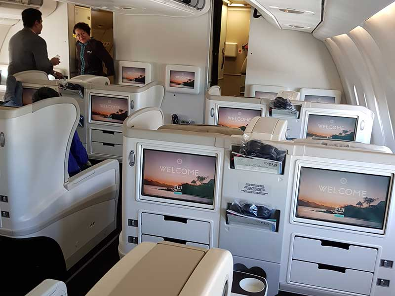Business Class kabin på Fiji Airways