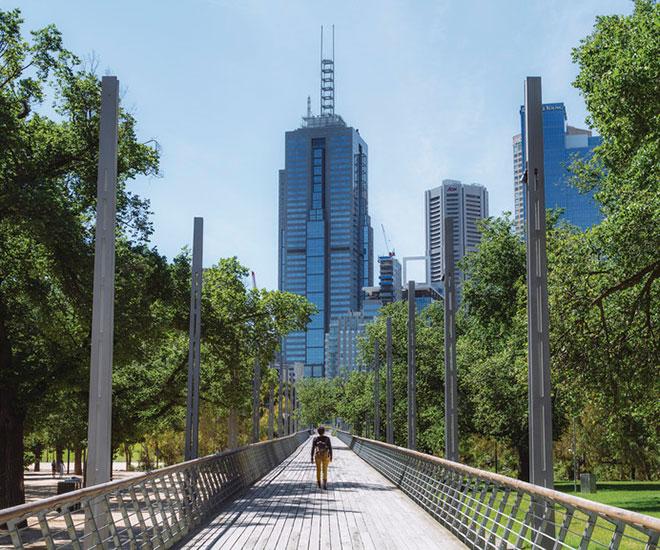 Rundresa Australien, Melbourne