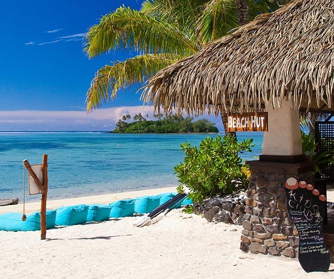 Cooköarna erbjuder mysiga stränder och härliga bad.