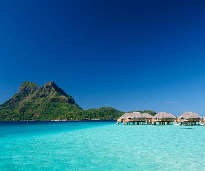 Overwater bungalow på Bora Bora Pearl Resort